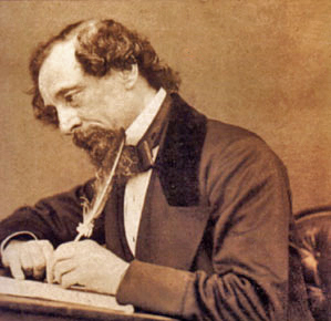 Dickens at his desk