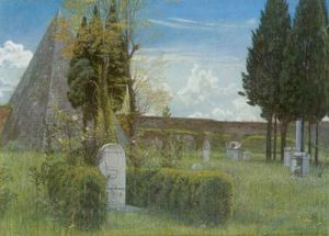 Poets' graves in Rome