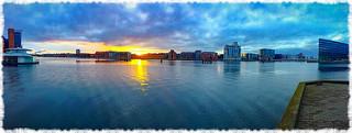 Sunrise over buildings